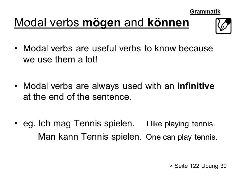 Modal verbs mögen and können