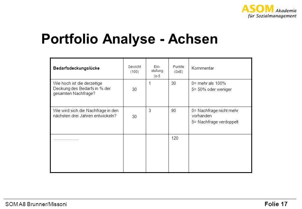 Portfolio Analyse - Achsen