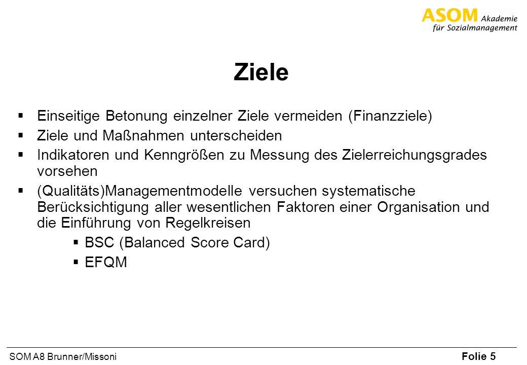 Ziele Einseitige Betonung einzelner Ziele vermeiden (Finanzziele)