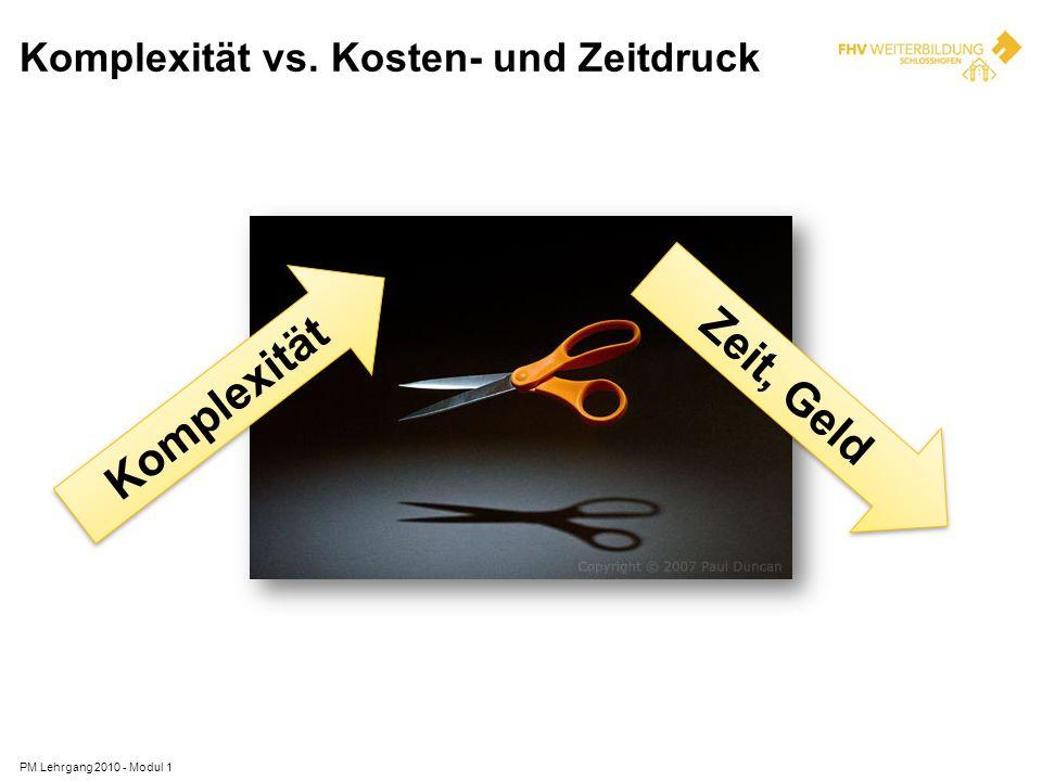 Komplexität vs. Kosten- und Zeitdruck
