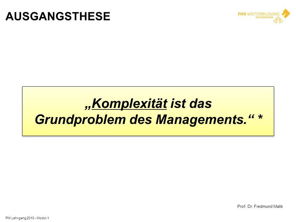Grundproblem des Managements. *