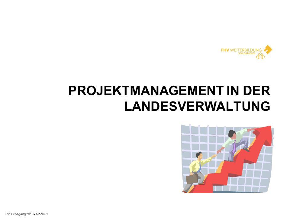 Projektmanagement in der Landesverwaltung