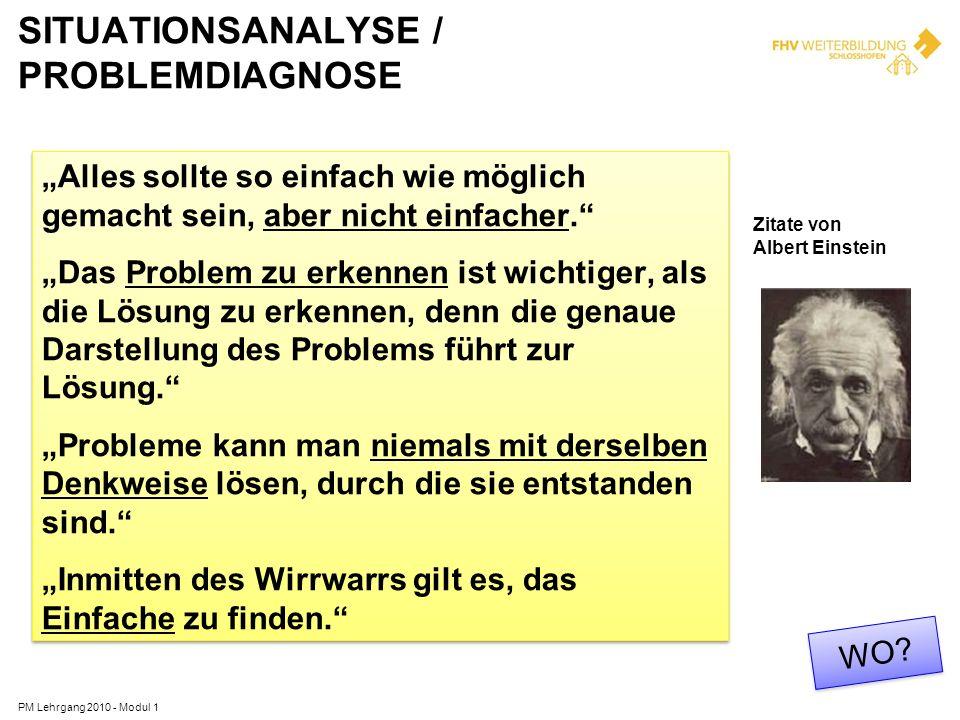 SITUATIONSANALYSE / PROBLEMDIAGNOSE