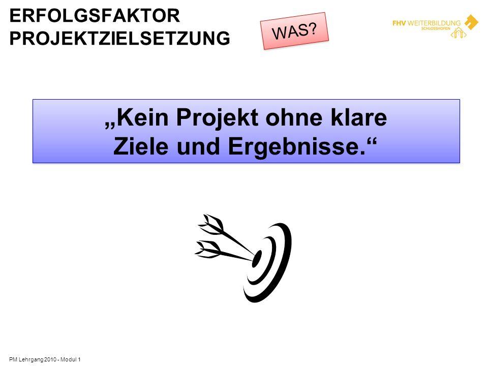 ERFOLGSFAKTOR PROJEKTZIELSETZUNG