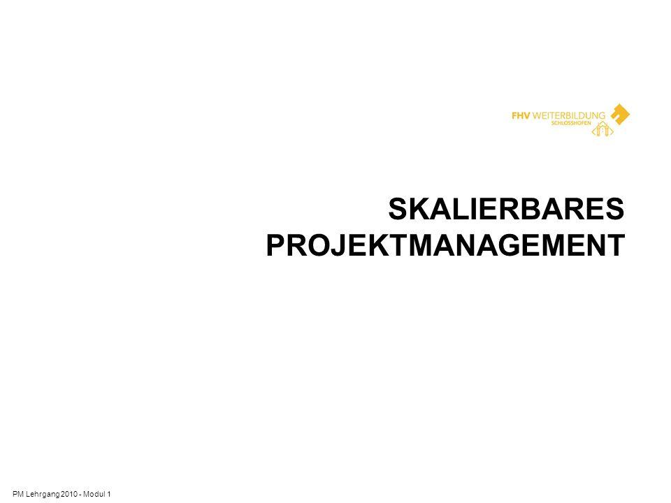 Skalierbares Projektmanagement