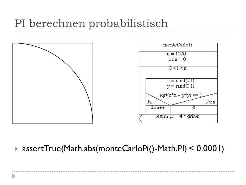 PI berechnen probabilistisch