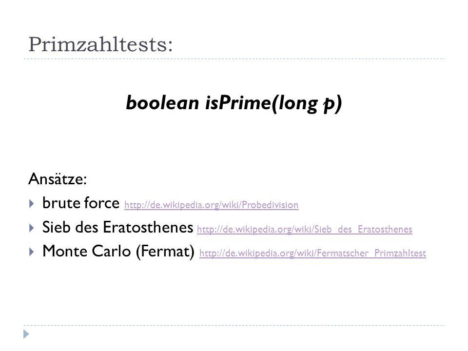 boolean isPrime(long p)