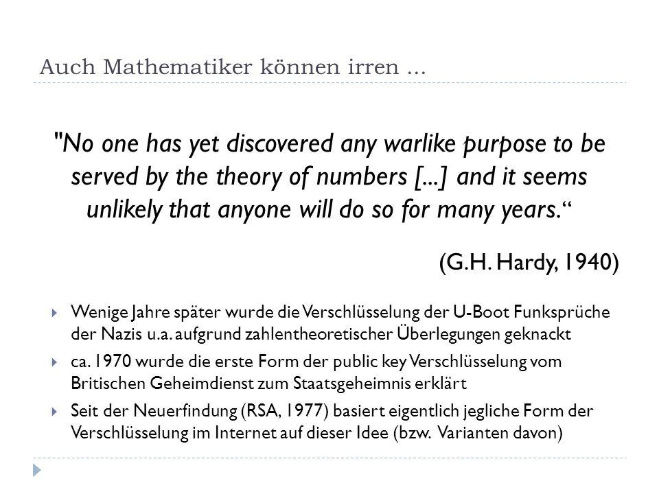 Auch Mathematiker können irren ...