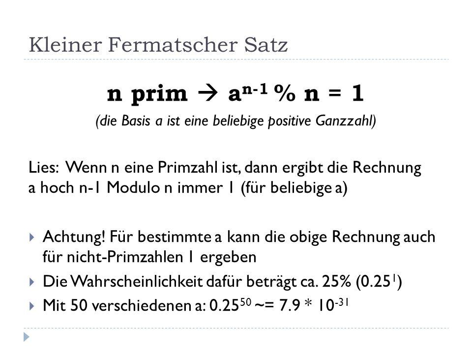 Kleiner Fermatscher Satz
