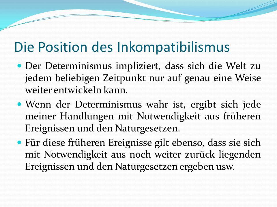 Die Position des Inkompatibilismus