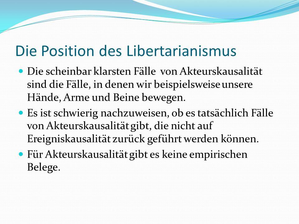 Die Position des Libertarianismus