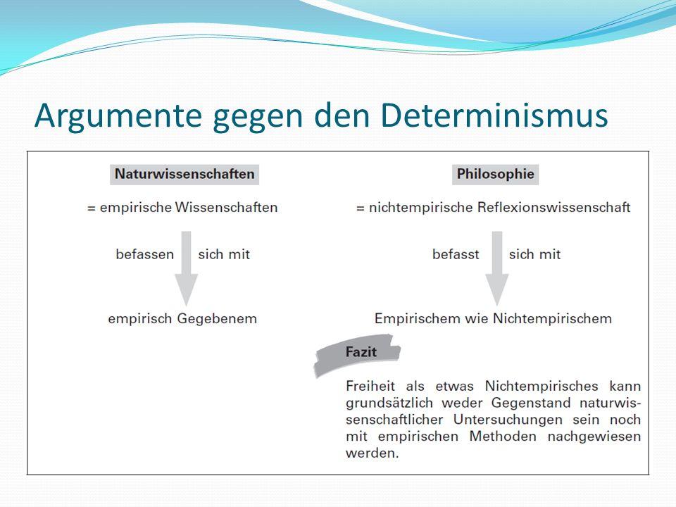 Argumente gegen den Determinismus