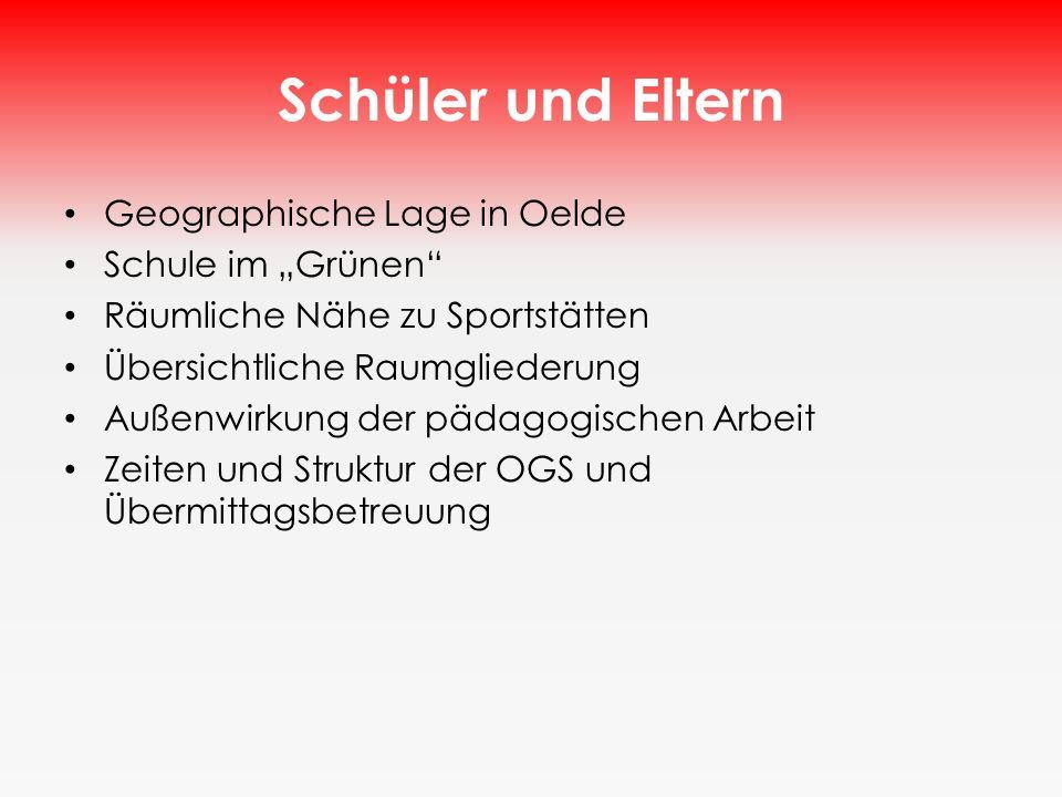 """Schüler und Eltern Geographische Lage in Oelde Schule im """"Grünen"""
