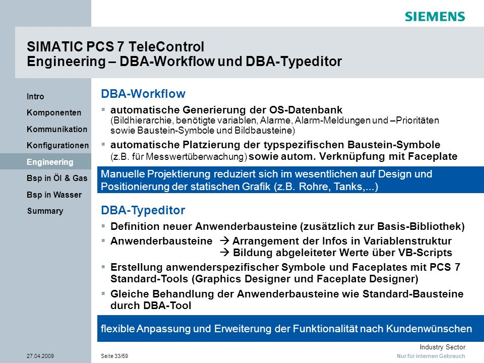 SIMATIC PCS 7 TeleControl Engineering – DBA-Workflow und DBA-Typeditor