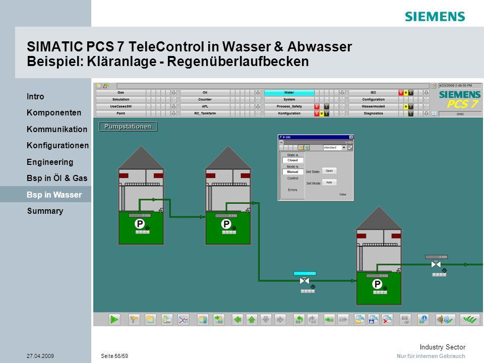 SIMATIC PCS 7 TeleControl in Wasser & Abwasser Beispiel: Kläranlage - Regenüberlaufbecken