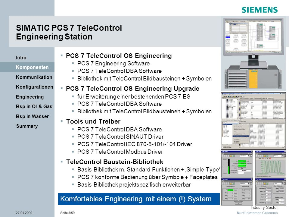 SIMATIC PCS 7 TeleControl Engineering Station