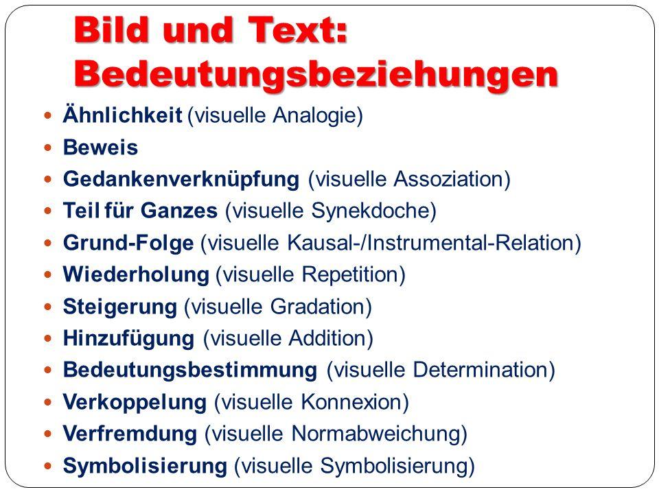 Bild und Text: Bedeutungsbeziehungen