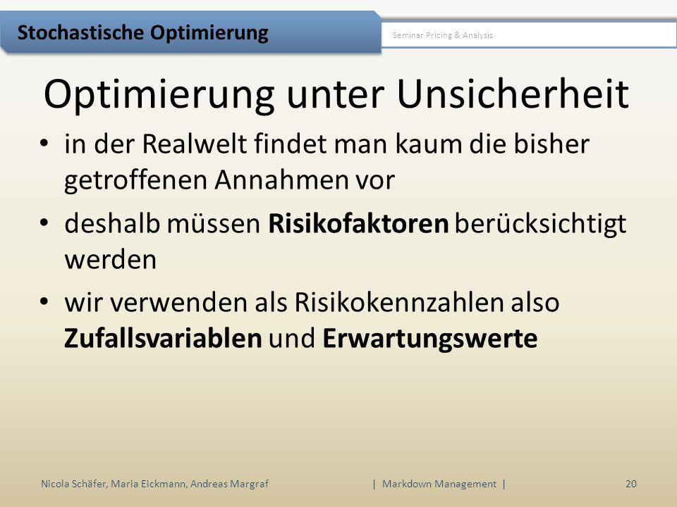 Optimierung unter Unsicherheit