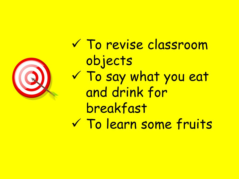 To revise classroom objects