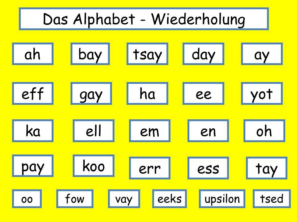 Das Alphabet - Wiederholung