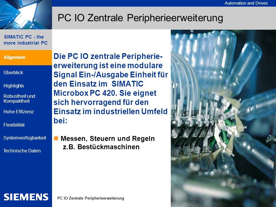 PC IO Zentrale Peripherieerweiterung