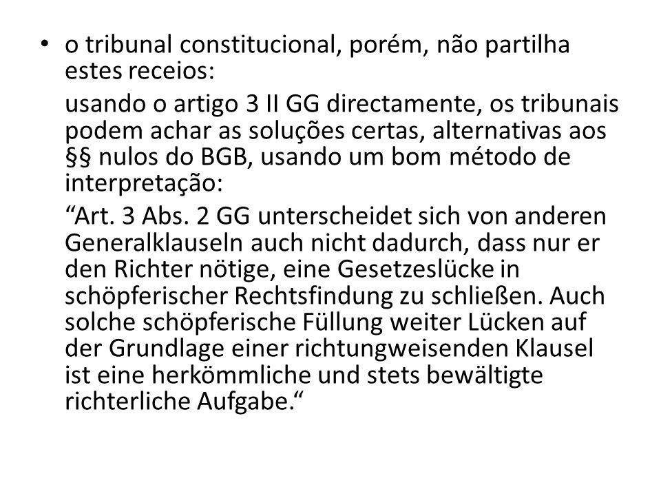 o tribunal constitucional, porém, não partilha estes receios: