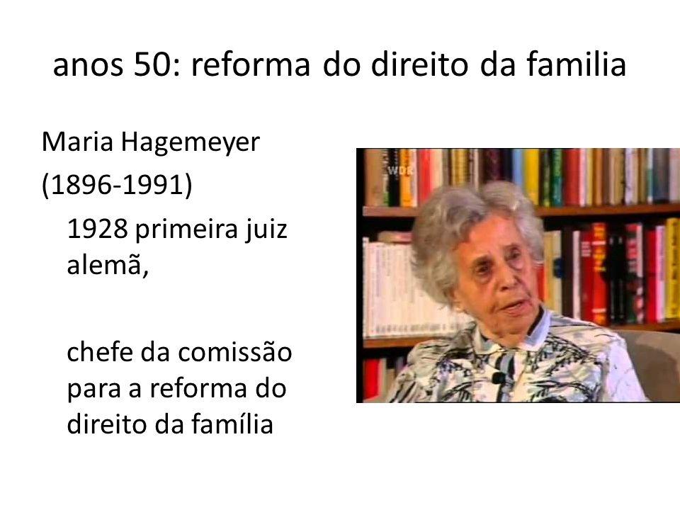 anos 50: reforma do direito da familia