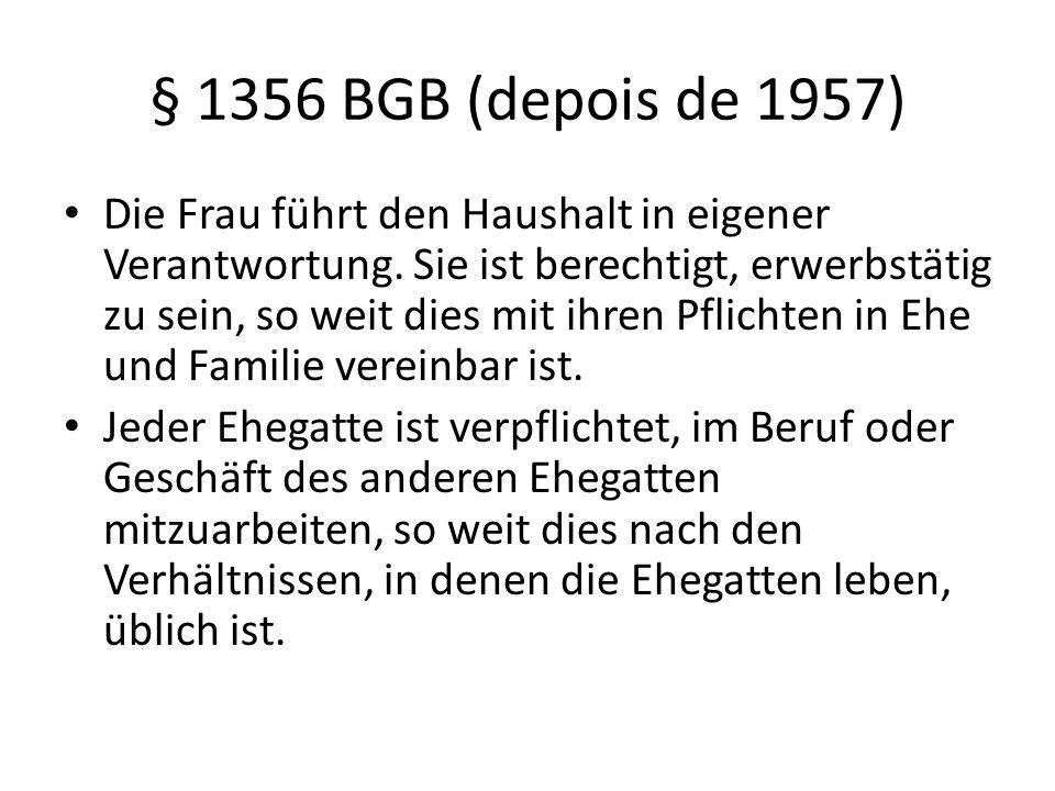 § 1356 BGB (depois de 1957)
