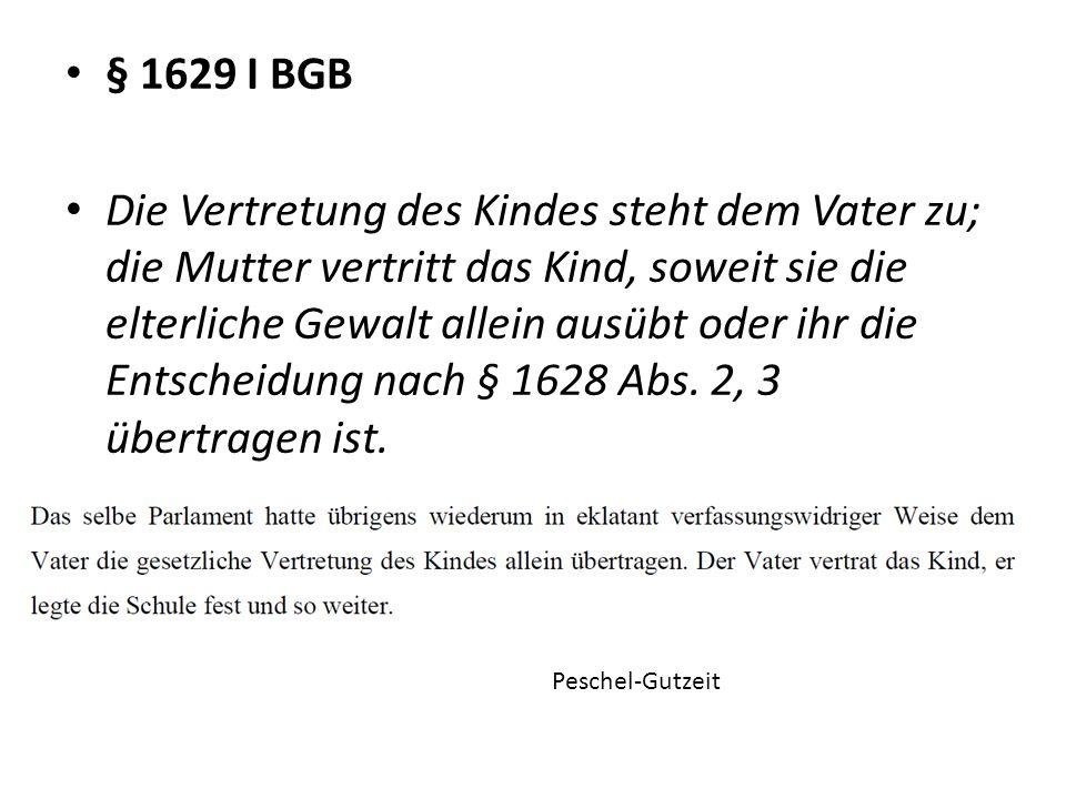 § 1629 I BGB