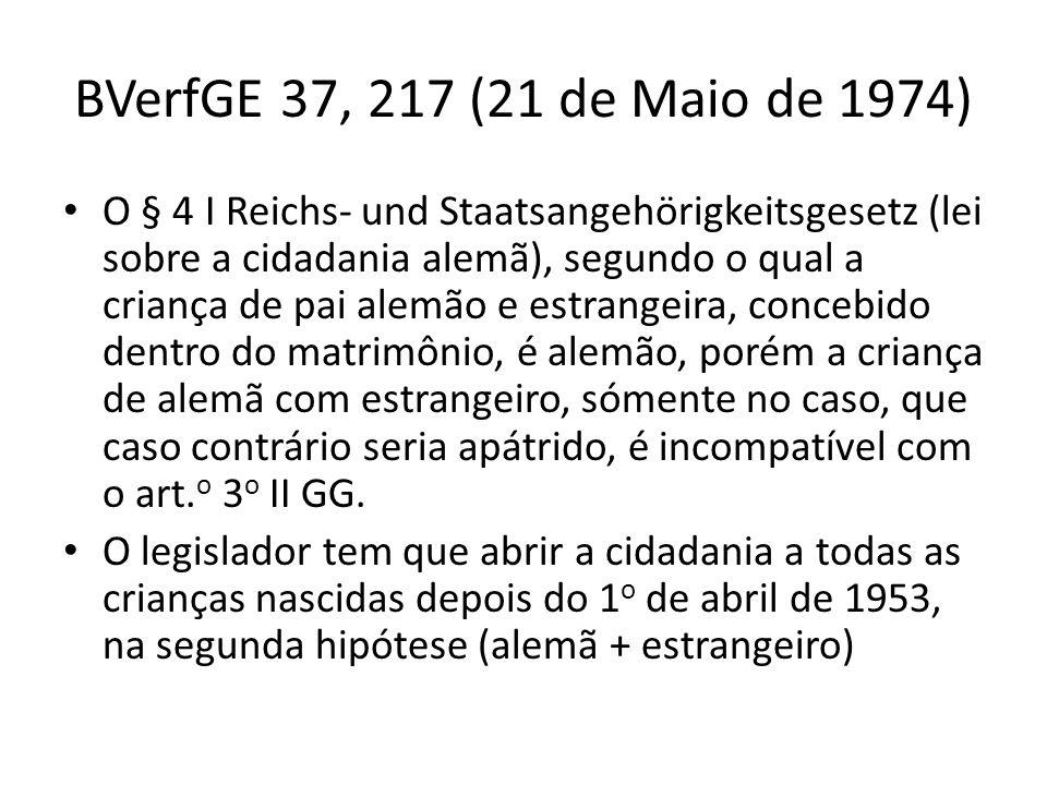 BVerfGE 37, 217 (21 de Maio de 1974)
