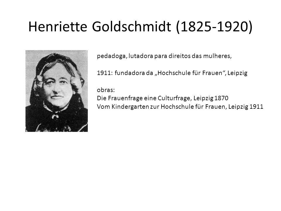 Henriette Goldschmidt (1825-1920)