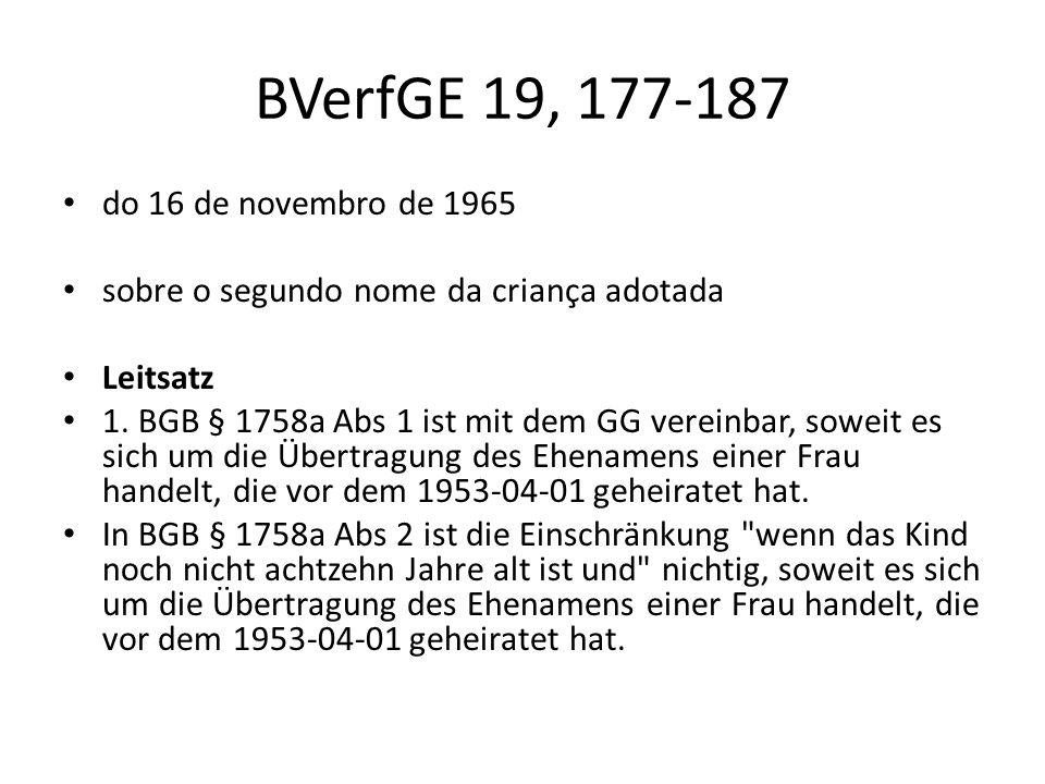 BVerfGE 19, 177-187 do 16 de novembro de 1965