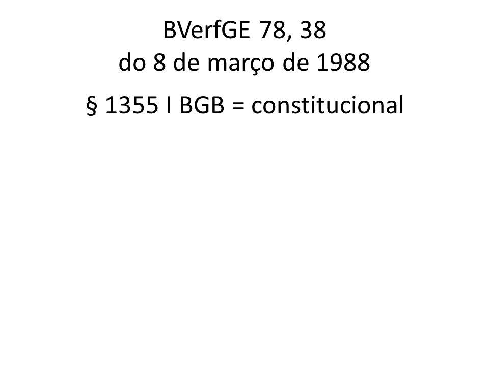 § 1355 I BGB = constitucional
