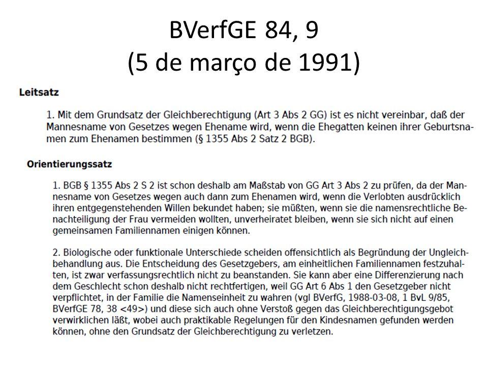 BVerfGE 84, 9 (5 de março de 1991)