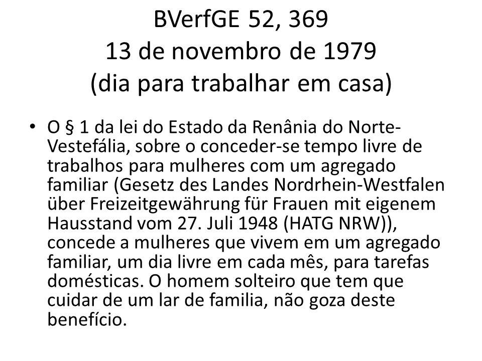 BVerfGE 52, 369 13 de novembro de 1979 (dia para trabalhar em casa)