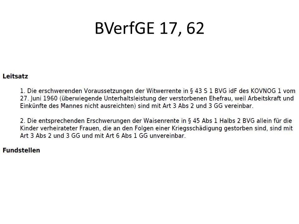 BVerfGE 17, 62