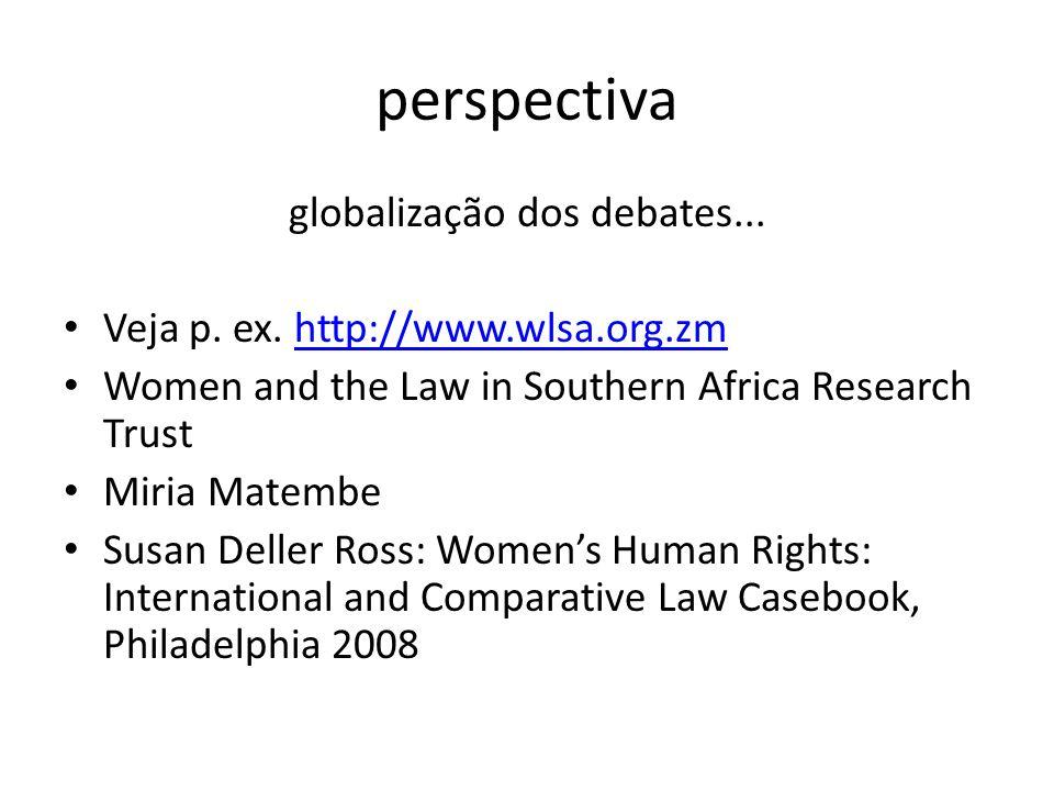 globalização dos debates...