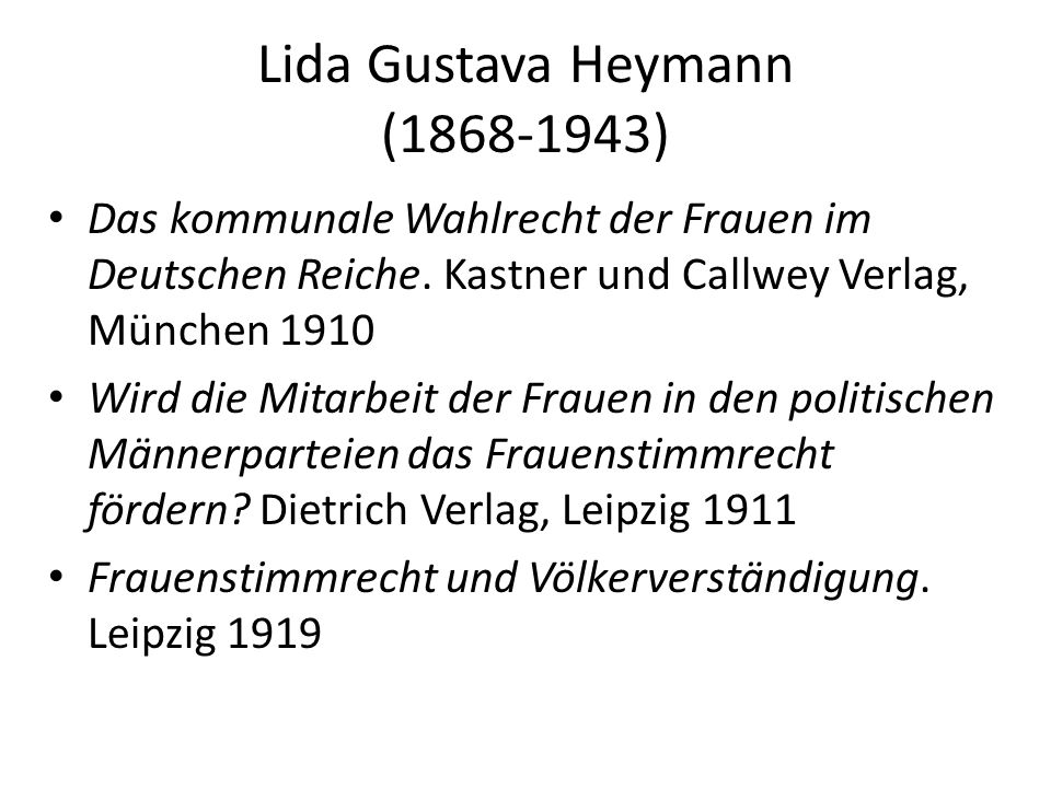 Lida Gustava Heymann (1868-1943)