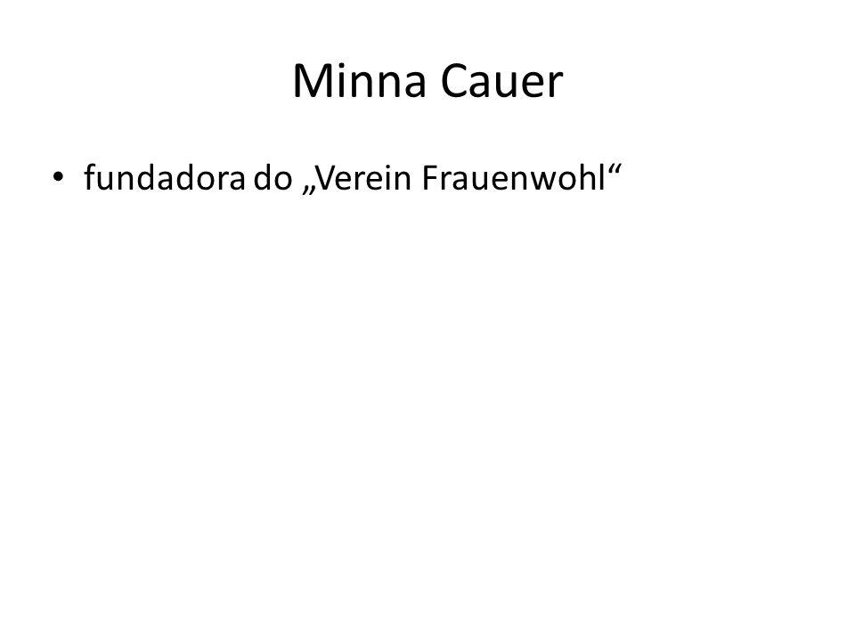"""Minna Cauer fundadora do """"Verein Frauenwohl"""