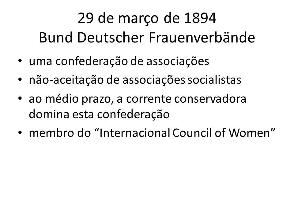 29 de março de 1894 Bund Deutscher Frauenverbände