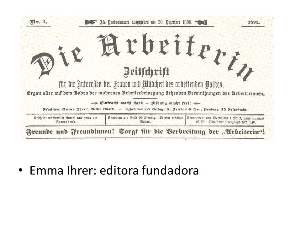Emma Ihrer: editora fundadora