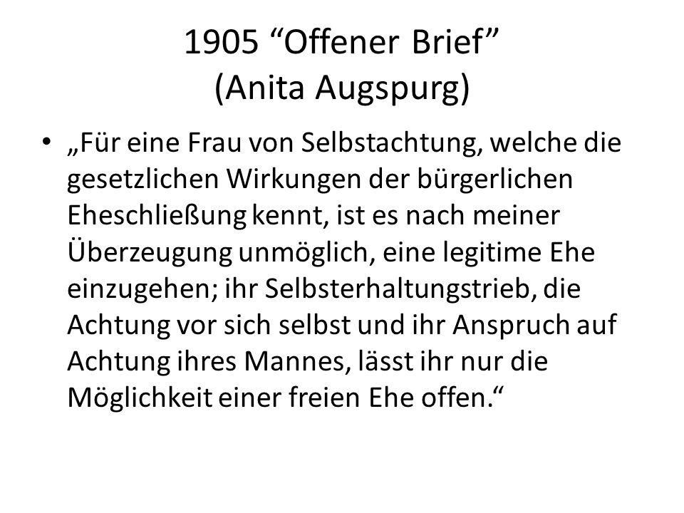 1905 Offener Brief (Anita Augspurg)