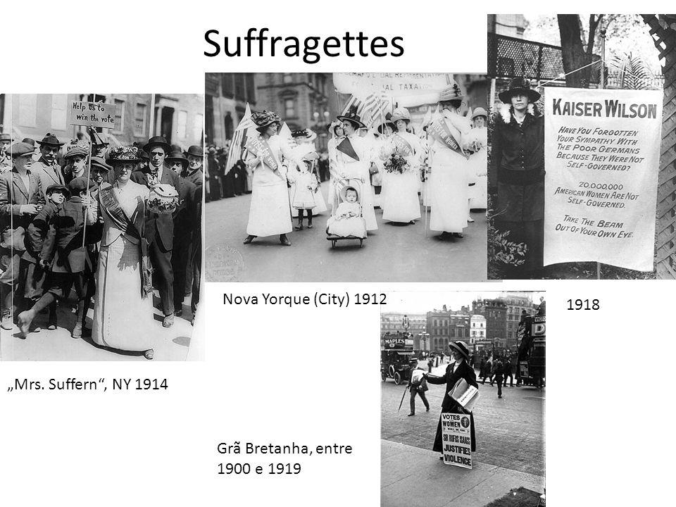 "Suffragettes Nova Yorque (City) 1912 1918 ""Mrs. Suffern , NY 1914"