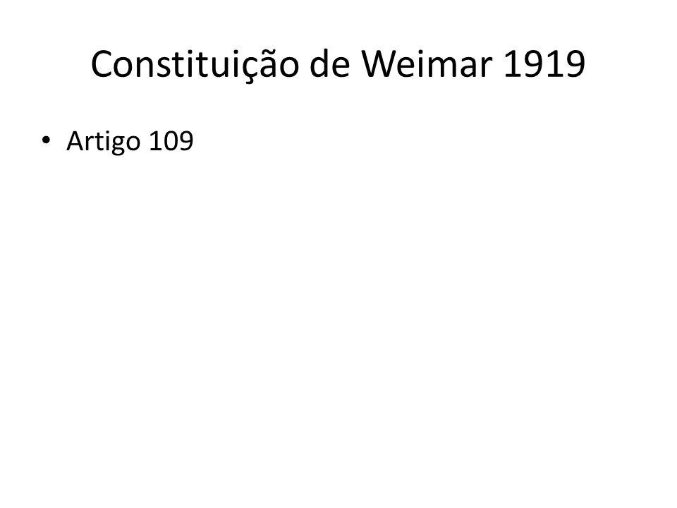 Constituição de Weimar 1919