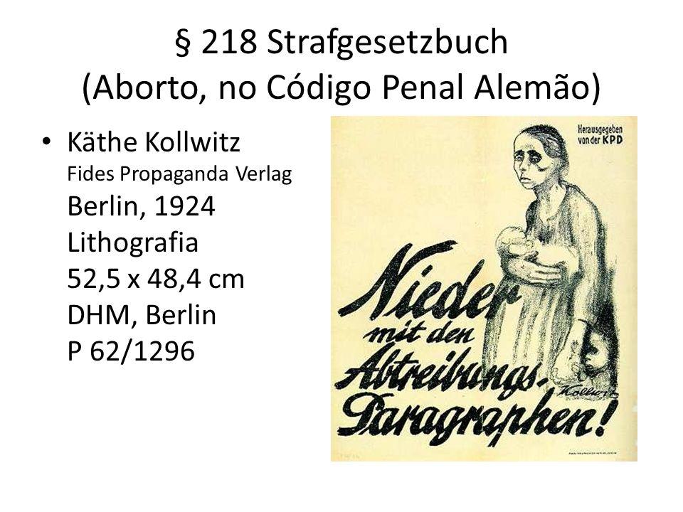 § 218 Strafgesetzbuch (Aborto, no Código Penal Alemão)
