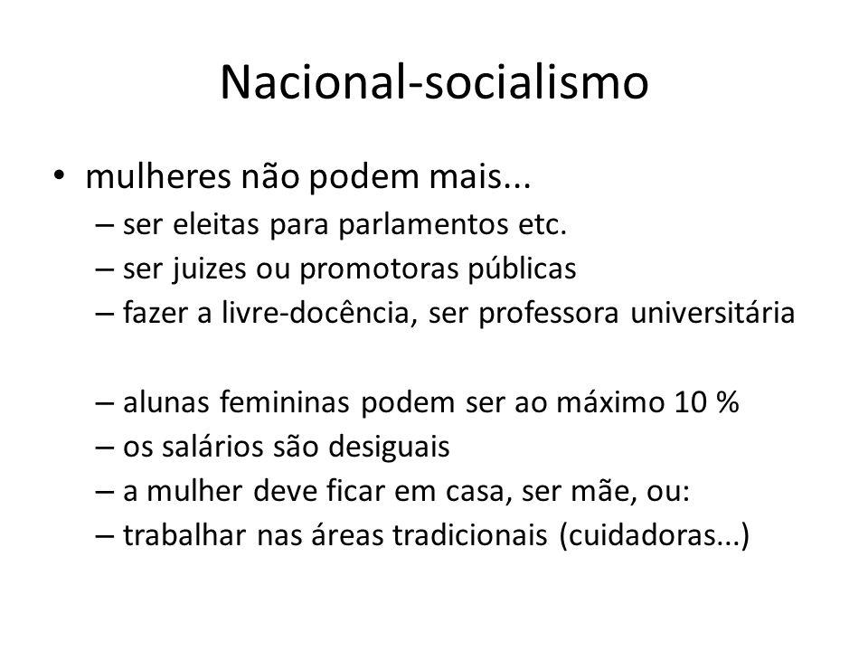 Nacional-socialismo mulheres não podem mais...