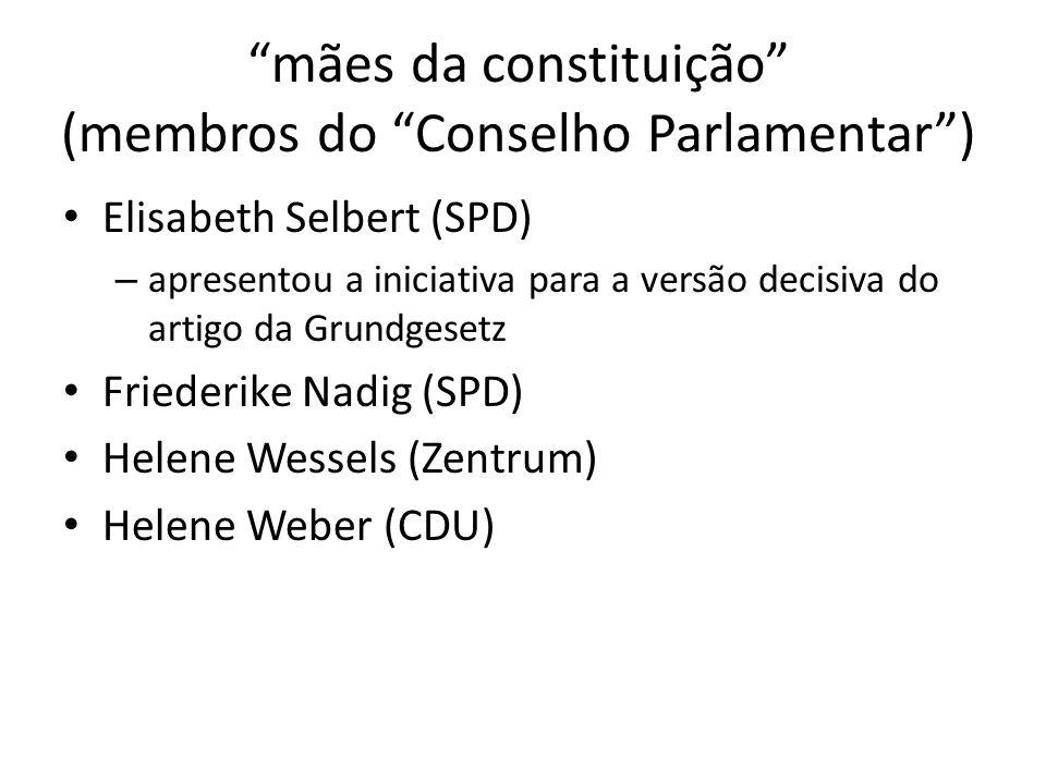 mães da constituição (membros do Conselho Parlamentar )