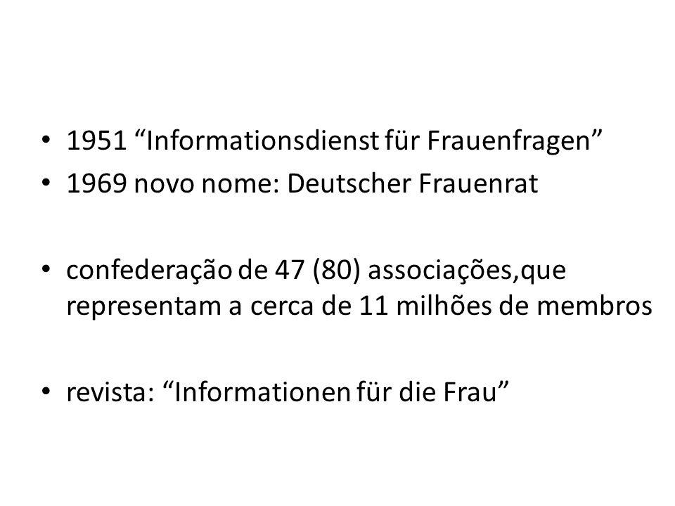 1951 Informationsdienst für Frauenfragen