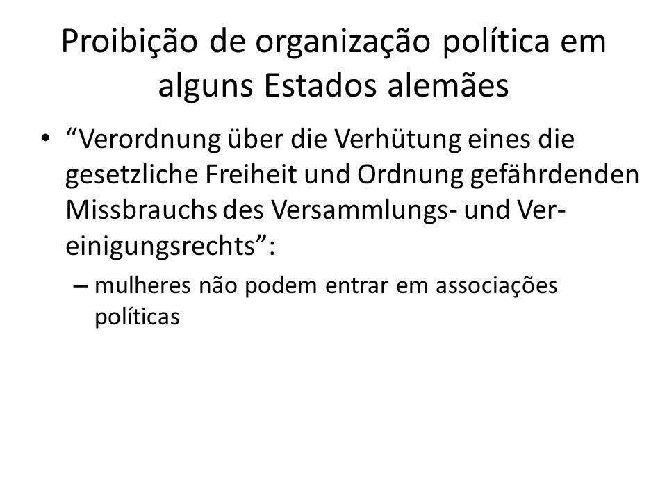 Proibição de organização política em alguns Estados alemães