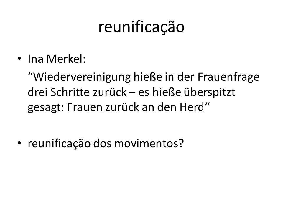 reunificação Ina Merkel: